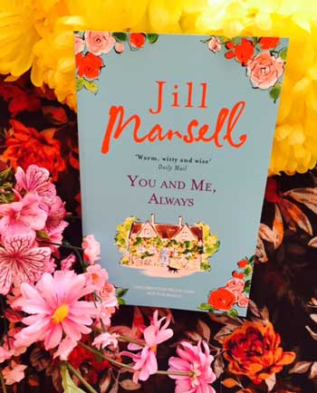 Jill Mansell book and flowers