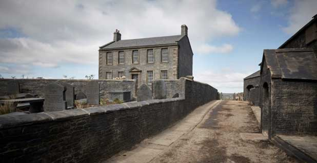 The Brontë parsonage designed by Grant-Montgomery for the BBC show (c)The Brontë Society