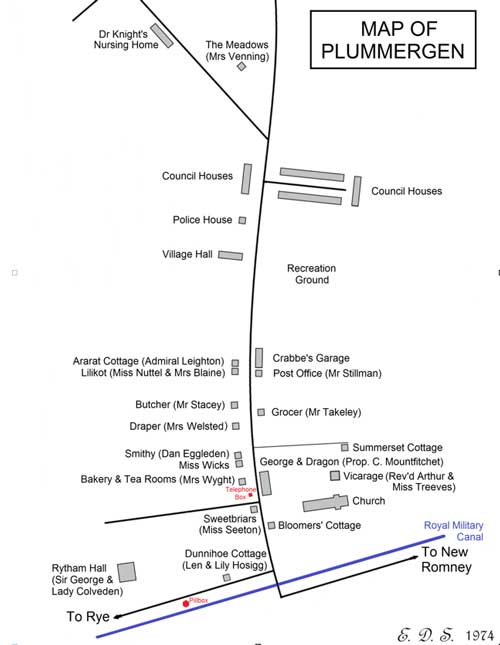 Map of Plummergen (c) Hamilton Crane