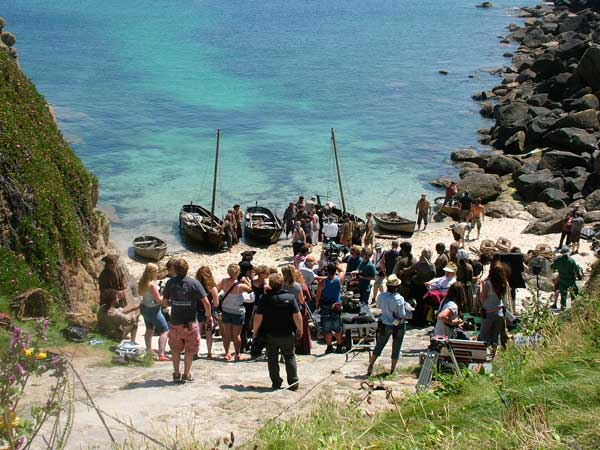 Poldark cast and crew at Porthgwarra (c) St Aubyn Estates Holidays/Visit Cornwall