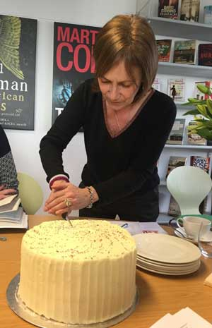 Cutting the anniversary cake (c) Sheila Flanagan