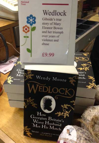 Wedlock the book on sale at Gibside where it is set