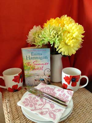 Cuppa and cake ready for Emma Hannigan