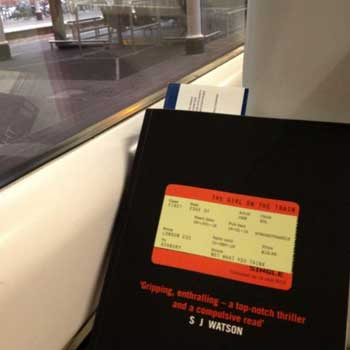 Reading the girl on the train - on the train!