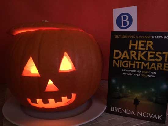Brenda Novak book and pumpkin
