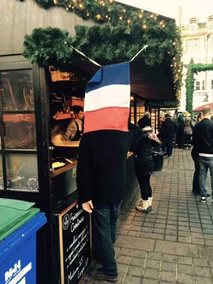 French stall at market