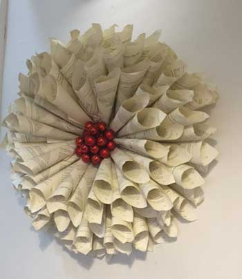 Flower made from books