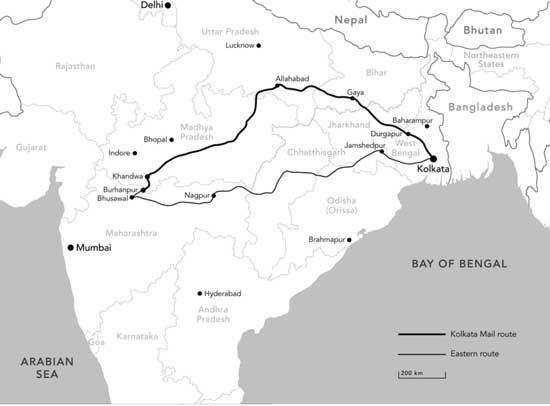 Image result for map of saroo brierley's journey
