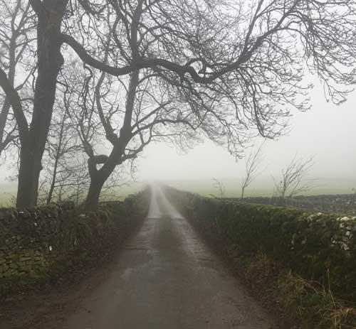 Path out of peak village (c) Sarah Ward