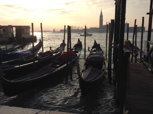 Gondolas at sunset (c) T A Williams