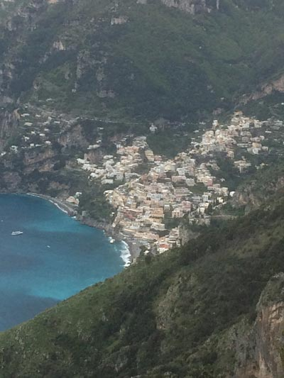 The Path of The Gods above Positano (c) Maeve Haran
