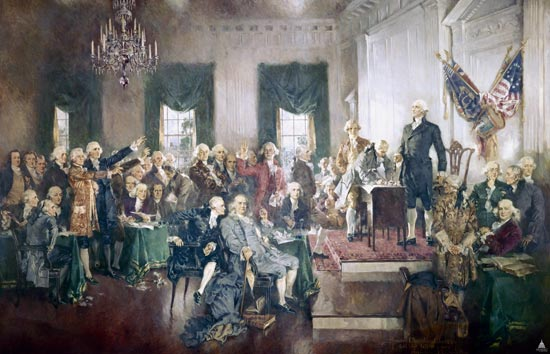 SIgning of the Constitution (c) Architect of the Constitution https://www.aoc.gov
