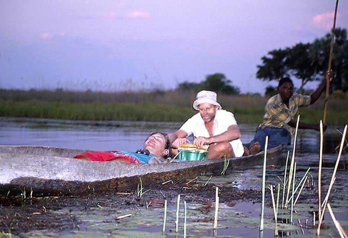 Michael-and-Stanley-working-in-the-Okavango (c) Michael Stanley