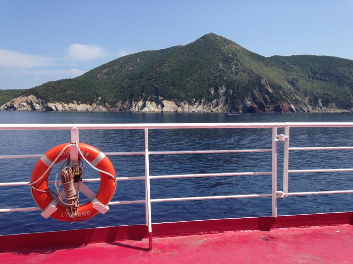 Elba from the ferry (c) Emylia Hall