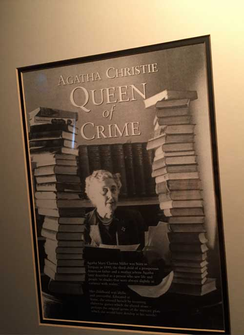 Agatha Christie at Old Swan Harrogate (c) TheBookTrail
