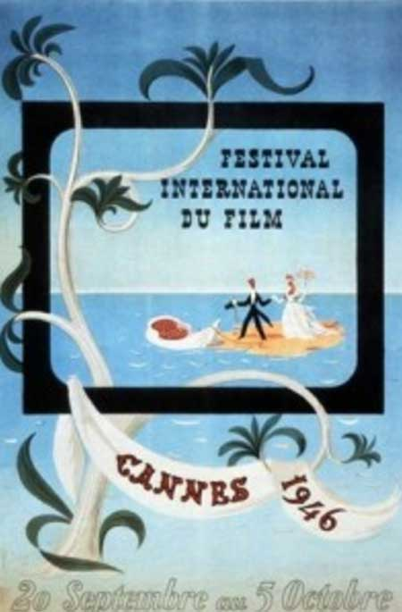 The poster for the very first Cannes film festival