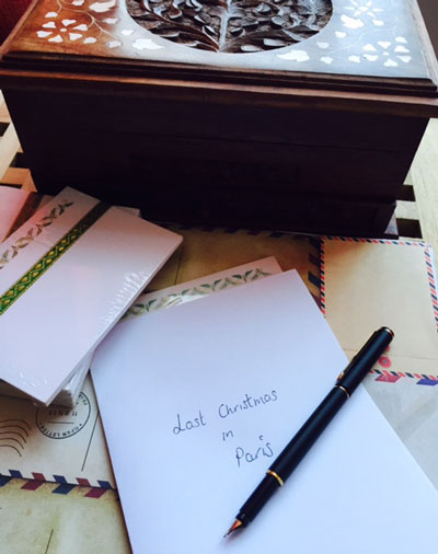 Vintage letter writing (c) The BookTrail