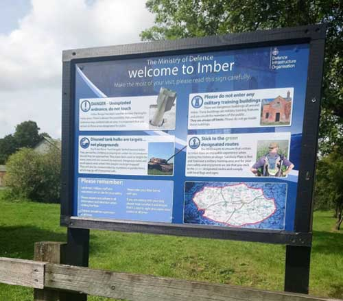 Are you ready to enter Imber? (c) The Travelling Reader
