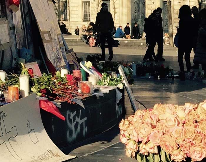 Paris after the Friday 13th attacks, near the Bataclan (c) Carol Drinkwater
