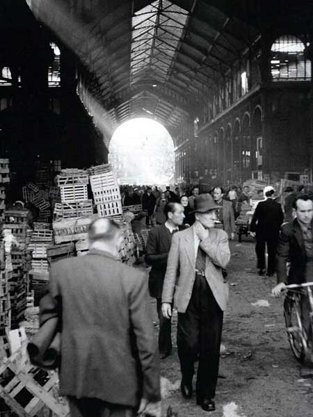Paris market (as Charlie would have found it) Les Halles post WWII (a) anon