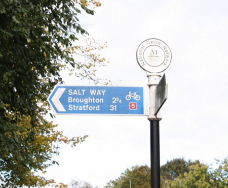Example of a Salway signposted (c) Wikipedia