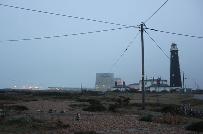 Dungeness Old Lighthouse and the power station (c) W Shaw