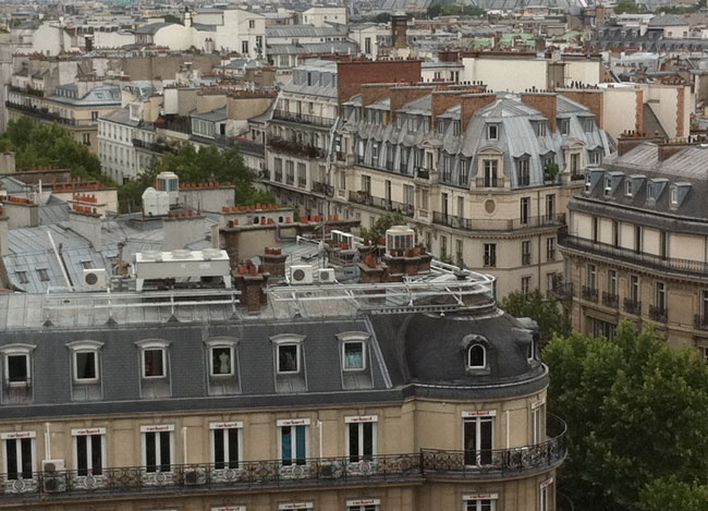 The rooftops of Paris, (c) TheBookTrail
