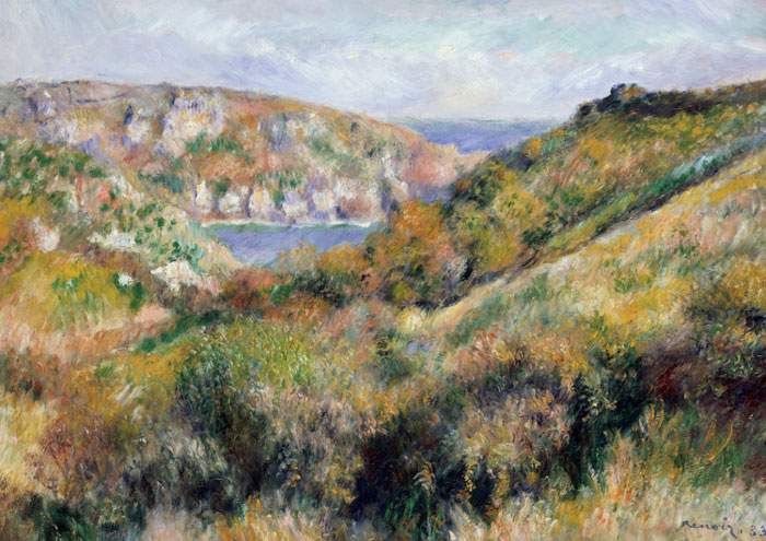 Hills around the Bay of Moulin Huet, Guernsey (c) Renoir
