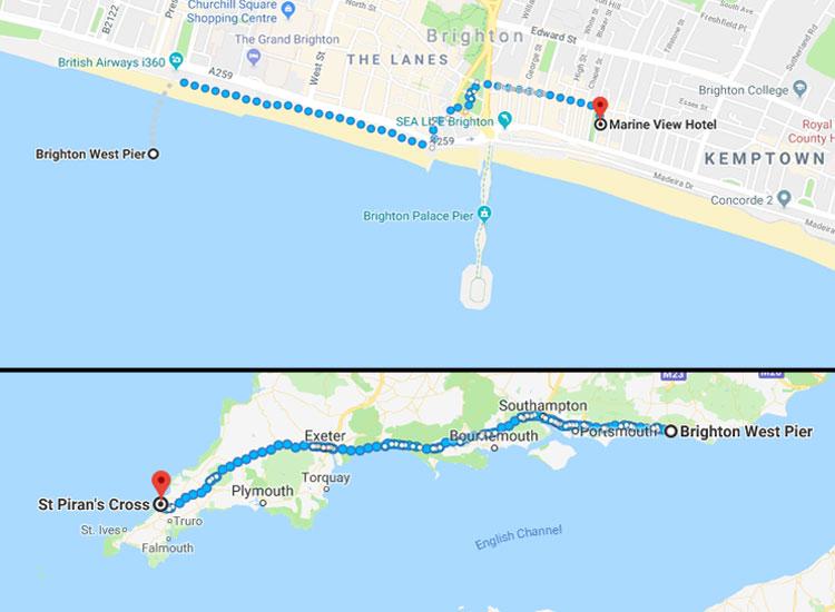 Brighton and St Pirian (c) Google