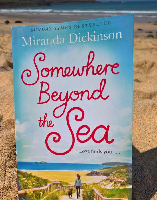 The Book on Porthmeor Beach ©Miranda-Dickinson