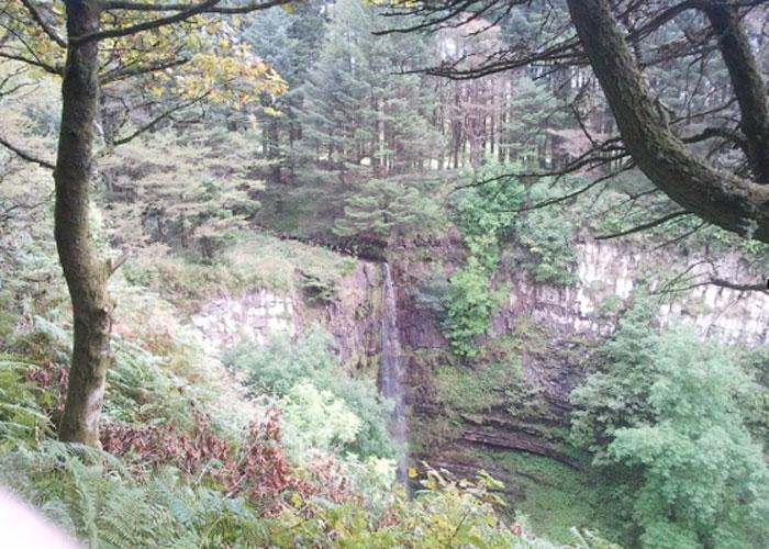 Waterfall on walk to library (c) Helen Bridgett