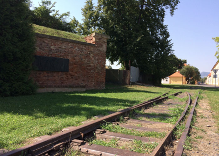 The terminus siding of the train tracks to Auschwitz (c) Kim Sherwood.