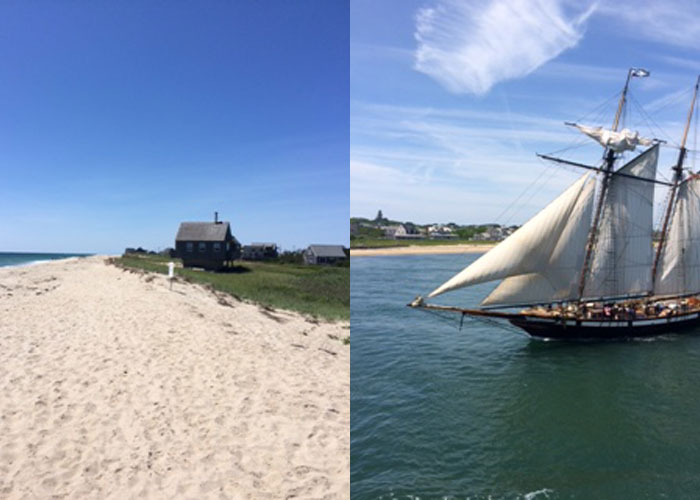 Sconset sands and sails spotted off land (c) Elizabeth Lowry
