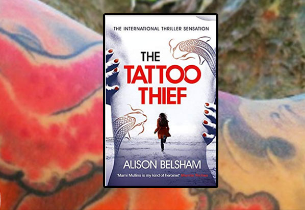 The Tattoo Thief (with author tattoo in background)