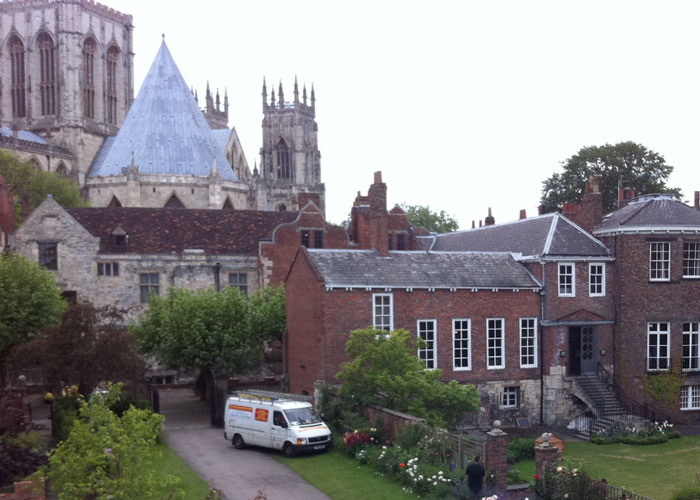 The Minster in the background seen from the wall (c) TheBookTrail