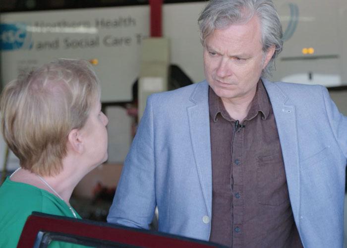 Simon Toyne and Clare Mackintosh (c) CBS Reality