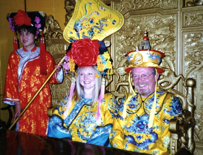 Peter May and his wife in China