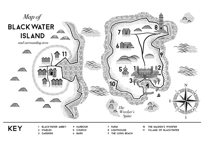Map from the book (c) William Ryan