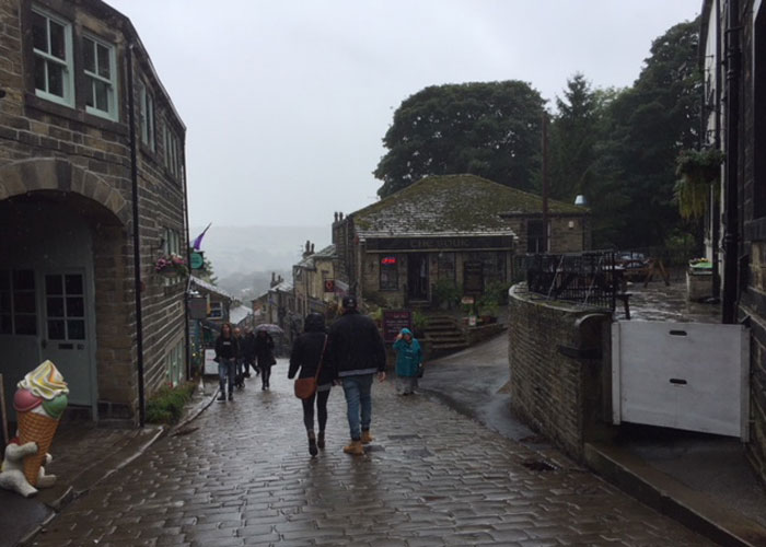 A rainy Haworth (c) TheBookTrail