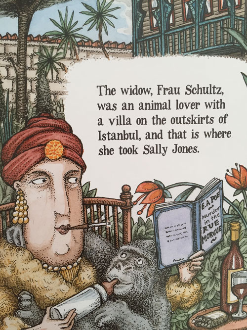 illustrations from The Legend of Sally Jones