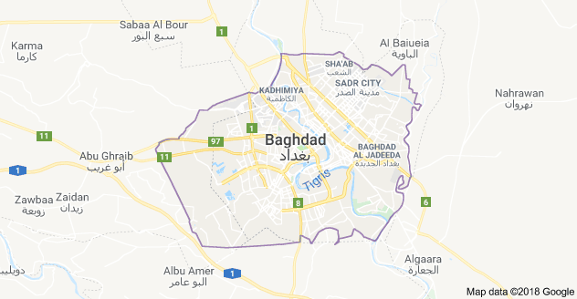 Map of Baghad (c) Google