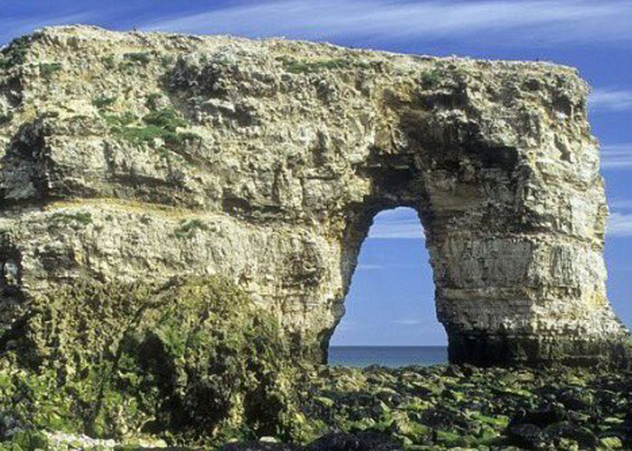 Marsden Rock before it collapsed (c) Audla English