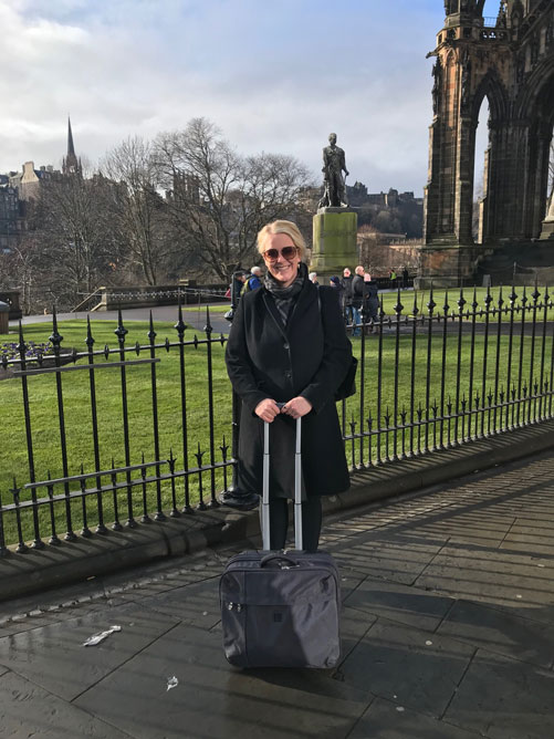 In Edinburgh at the start of the Orenda Roadshow 2019 (c) Lilja Sigurdardóttir