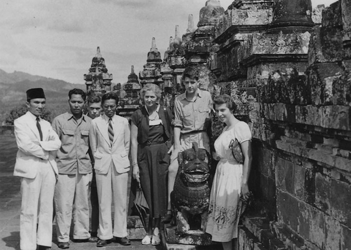 The author's first visit to Borobudur, aged 13, 1953 (c) Tony Reid