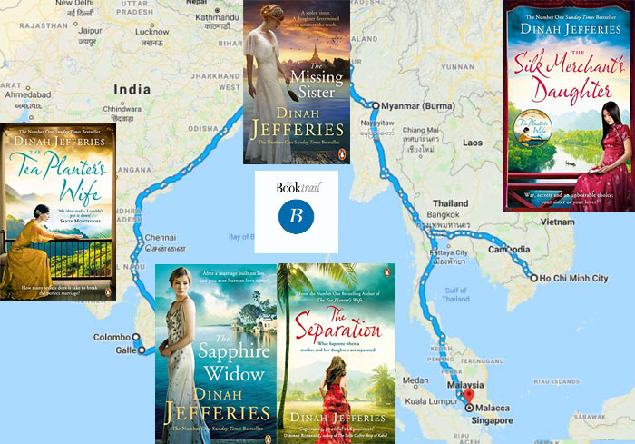 dinah jefferies literary locations