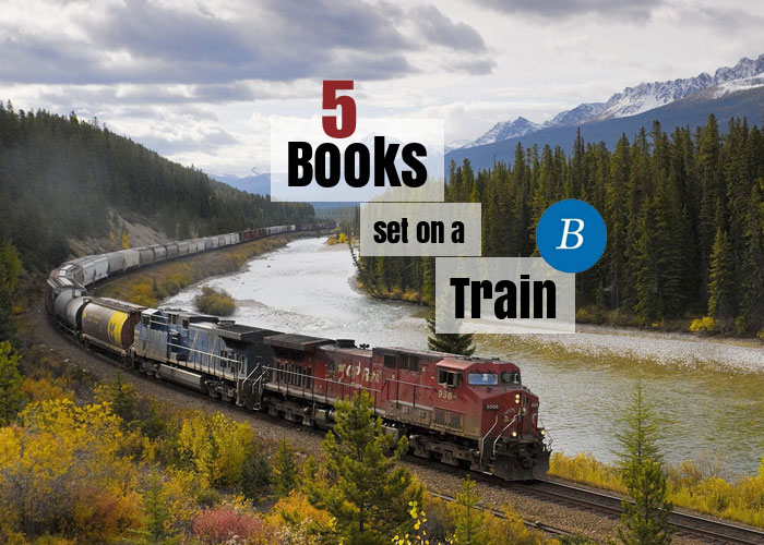 Books set on a train