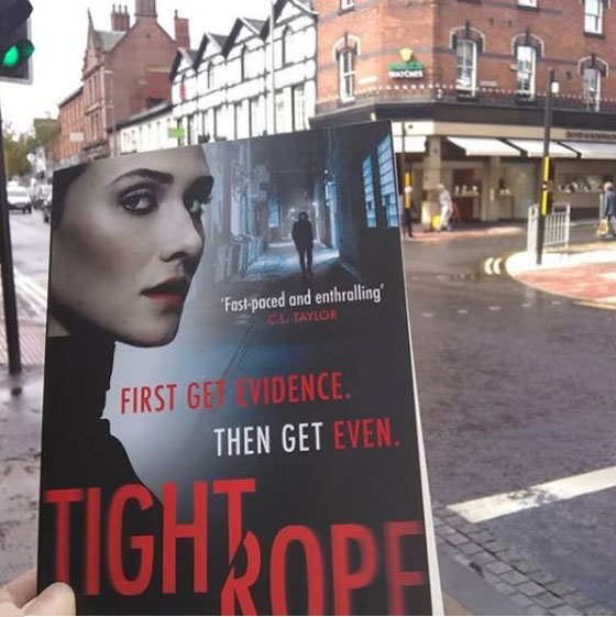 Walking aTightrope near Manchester with Marnie Riches