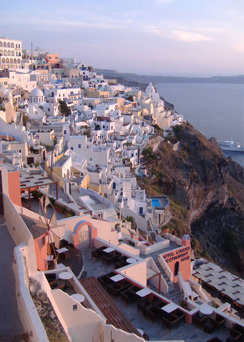 Travel to Santorini with Sandy Barker