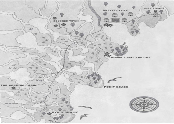 Map from the book