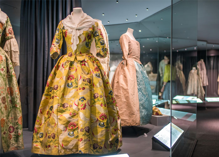 Gowns on display (c) Bath Fashion Museum